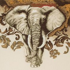 Maia Lord Of The Desert Counted Cross Stitch Kit 14 Count Rooster Cross Stitch, Elephant Cross Stitch, Cross Stitch Animals, Counted Cross Stitch Kits, Elephant Quilt, Elephant Love, Cross Stitching, Cross Stitch Embroidery, Cross Stitch Patterns