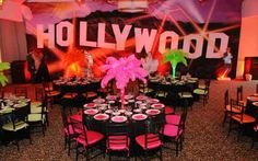 decoração para festa de quinze anos de hollywood - Pesquisa Google