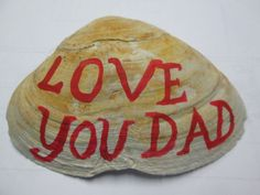 Sign/Sea Shell for Dad/Wall Table by VintageHomeIrina on Etsy, $1.99
