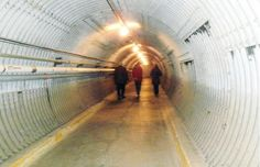 Visitors to the Diefenbunker walk through this eerie blast tunnel to enter the unique Cold War museum. - Five Worth the Drive to Pretend Winter is Over (The Ottawa Citizen)
