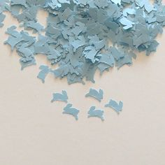 Blue Baby Shower Confetti Bunnies 450 by LaurelPhotoandCraft, $5.00