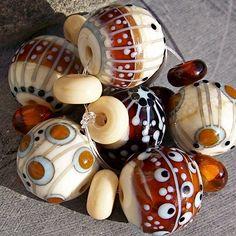 MruMru Handmade Lampwork Glass Bead  set.  Sra. by magdalenaruiz, $45.00