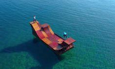 Floating Skate Ramp in Lake Tahoe – Fubiz™