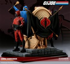 G.I. Joe Cobra Commander Diorama Polystone Diorama by Sidesh | Sideshow Collectibles