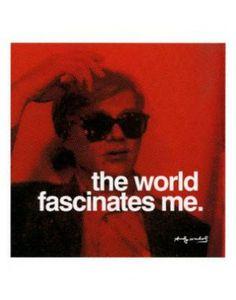 "FAR41585"" Andy Warhol - The World Facsinates Me"" (11 X 14)"