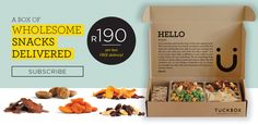 At Tuckbox we manufacture premium, wholesome portion-controlled snacks, hygienically packed into convenient, individually sealed packs and delivered to your door. Free Delivery, January, Snacks, Drinks, Food, Drinking, Appetizers, Beverages, Essen