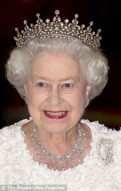 The Queen's favourite tiara, given to her from her grandmother, Queen Mary, will be in the exhibition. Here, she is pictured wearing it in on a state visit in 2011.