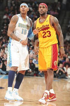 Carmelo Anthony (Denver Nuggets) and Lebron James