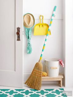 Perk up your cleaning routine with a fun painted broom!