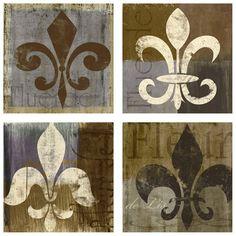 Wall Art Collection Fleur De Lis