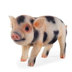 Buy Realistic Pink & Black Spotted Piglet Resin Garden Ornament from our Decorative Garden Animals range - Tesco.com