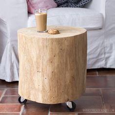 Baumstamm als couchtisch beistelltisch hocker boholz for Holzklotz als beistelltisch