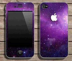 Purple galaxy phone case