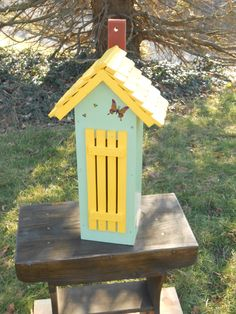 Colorful Butterfly House (I). $50.00, via Etsy.