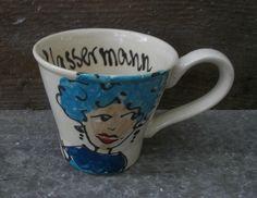 Tasse mit Sternzeichen Wassermann von schuetzkeramik via dawanda.com