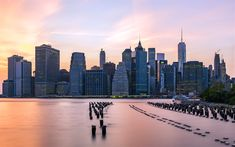 Download wallpapers 4k, Manhattan, old pier, skyscrapers, New York, USA, America, NYC