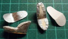 Making doll shoes, both high heel shoes for fashion dolls of various sizes and shoes for dolls with flat feet