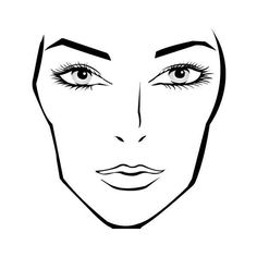 Download a blank face chart ❤ liked on Polyvore