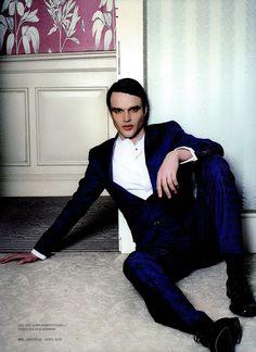 Beautiful shot in Prestige Hong Kong, April 2013, featuring a #RobertoCavalli Menswear look SS 2013!