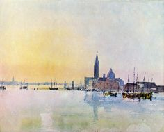 J. M. W. Turner - Venice, San Guirgio from the Dogana