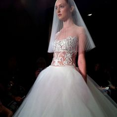 reem acra wedding dresses fall 2013.....love the pleated veil.........ill design around that
