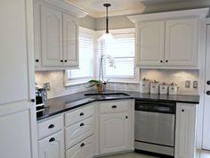Küche Backsplashes Mit Weißen Schränke   Küchenmöbel