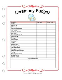 The Wedding Planner Flowers worksheet has plenty of space for you ...