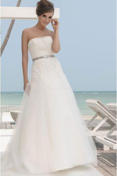 collection year 2013 wedding dresses dress length floor length long neckline straight silhouette a line sleeve style sleeveless strapless - Point Mariage Collection 2014