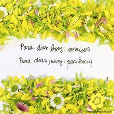 Para  dias bons: sorrisos. Para dias ruins: paciência.