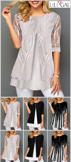 Shop Womens Fashion Tops, Blouses, T Shirts, Knitwear Online Mode Outfits, Stylish Outfits, Fall Outfits, Womens Trendy Tops, Elegantes Outfit, Casual Tops, Pretty Outfits, Womens Fashion, Fashion Trends