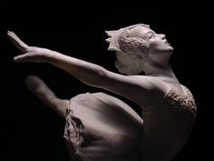 ) TITLE: Odette in Swan Lake, Close-Up I sculpted this figure. I like this shot as the pose resembles the swan in profi. Odette Sculpture, Close-Up Lets Dance, Ceramic Clay, Three Dimensional, Traditional Art, Ballet Dance, Close Up, Sculpting, Sculptures, Carving