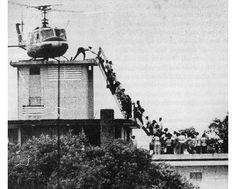 US embassy in Vietnam evacuates on April 29, 1975.