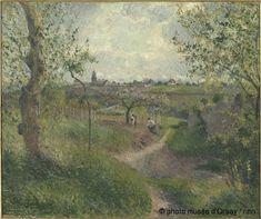 Camille Pissarro, Chemin montant à travers champs. Côte des Grouettes. Pontoiseen, 1879. Musée d'Orsay, Paris, France