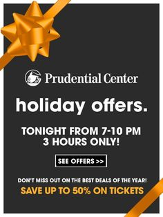 Prudential Center: Pre-Black Friday Sale Tonight