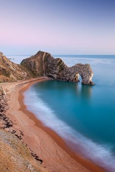 Photograph-Deserted beach at twilight, Durdle Door, Dorset, England. Photo Print expertly made in the USA Most Beautiful Beaches, World's Most Beautiful, Beautiful World, Beautiful Places, Romantic Places, Beach Images, Beach Pictures, Samos, Destination Voyage