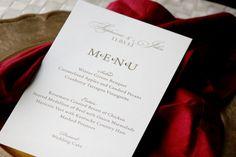 Wedding Menu Cards Classic Style CHOOSE COLORS by lemonseedandco, $3.75