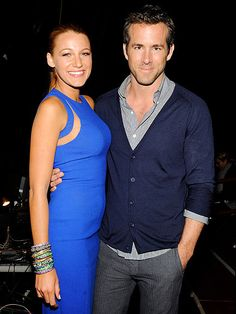 Blake Lively and Ryan Reynolds .....can't believe they're married...