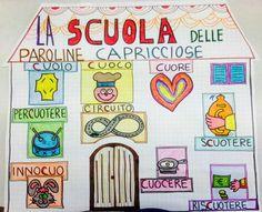 Risultati immagini per schede qu cu Montessori, Italian Lessons, Italian Language, Learning Italian, Teaching Reading, Primary School, Create Yourself, Literacy, Activities For Kids