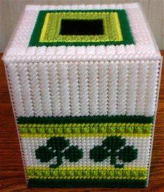 PLASTIC CANVAS CRAYON Box Lime Green