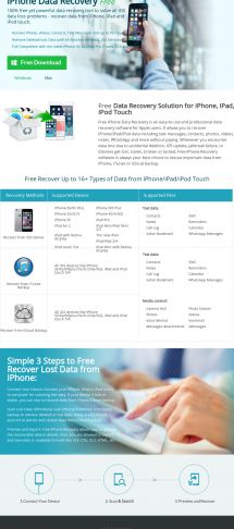 FREE iphone Data Recovery Tool
