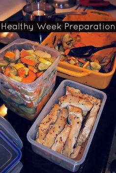 Undressed Skeleton  Healthy Week Preparation, Making Things a Little Bit Easier! roast vegetables with low sodium vegetable broth  {via TheWeighWeWere.com }
