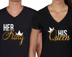 King and Queen shirts matching couples shirts king by sugararmy46