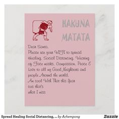 Spread Healing Social Distancing, Wearing of Masks Holiday Postcard Santa Cartoon, Christmas Prayer, Good Neighbor, Holiday Postcards, Secret Santa, Dear Santa, People Around The World, Postcard Size, Proverbs