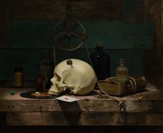 Vanitas - Oil on Linen by David Gluck - SOLD