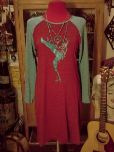 Bowie Glam Dress concert T style short or by SOULFOODByStellaLush, $50.00