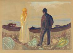 Edvard Munch | Zwei Menschen. Die Einsamen |1899 | Privatsammlung Courtesy Galleri K, Oslo © Foto: Courtesy Galleri K, Oslo #EdvardMunch #Munch #Art #Symbolism