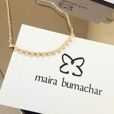 Nosso mais novo colar da Coleção Urban! Clean com super design como toda coleção! #venhamconhecer  www.mairabumachar.com.br #pedidosporwhatsapp (11)997440079