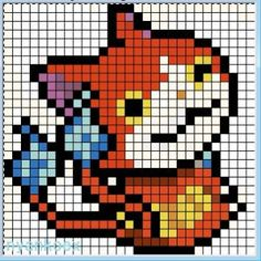 165 Best Yo Kai Watch Perler Beads Images Perler Beads