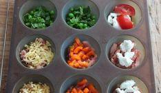 Mini-frittatas (hartige muffins) Mini Frittata, Tapas, Wine Recipes, Cooking Recipes, Banting Recipes, High Tea, Yummy Snacks, Foodies, Good Food