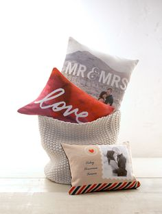 Ideas for how to use your wedding photos and engagement photos to decorate your newlywed home.